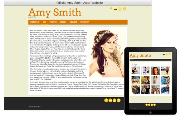 Screen Shot of website on multiple platforms